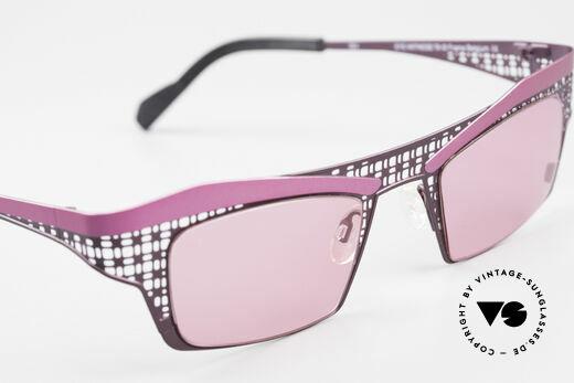 Theo Belgium Eye-Witness TA Avantgarde Sonnenbrille Pink, ungetragenes Theo-Einzelstück für die, die sich trauen!, Passend für Damen