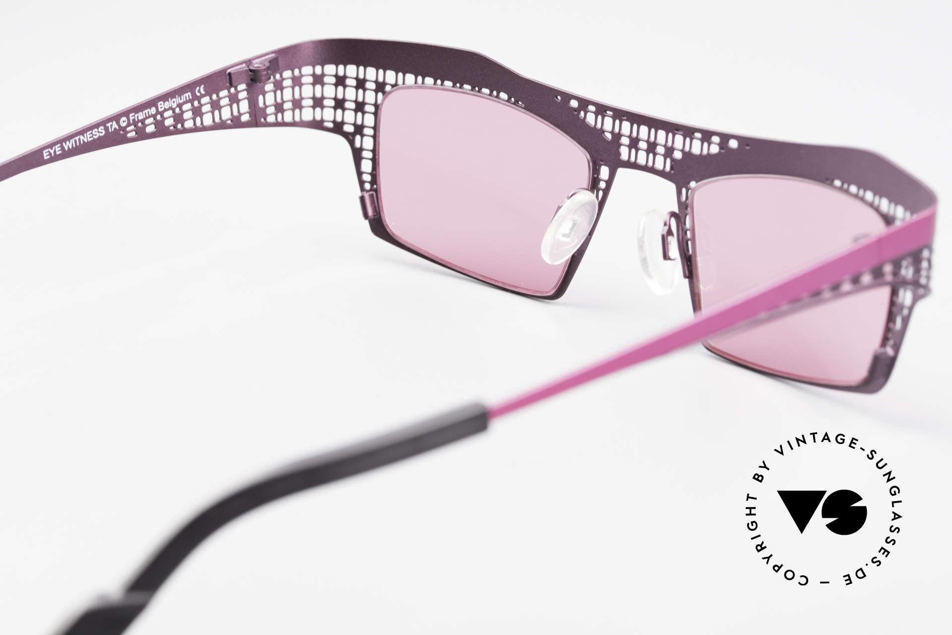 Theo Belgium Eye-Witness TA Avantgarde Sonnenbrille Pink, sozusagen: vintage Brillenfassung mit Symbol-Charakter, Passend für Damen