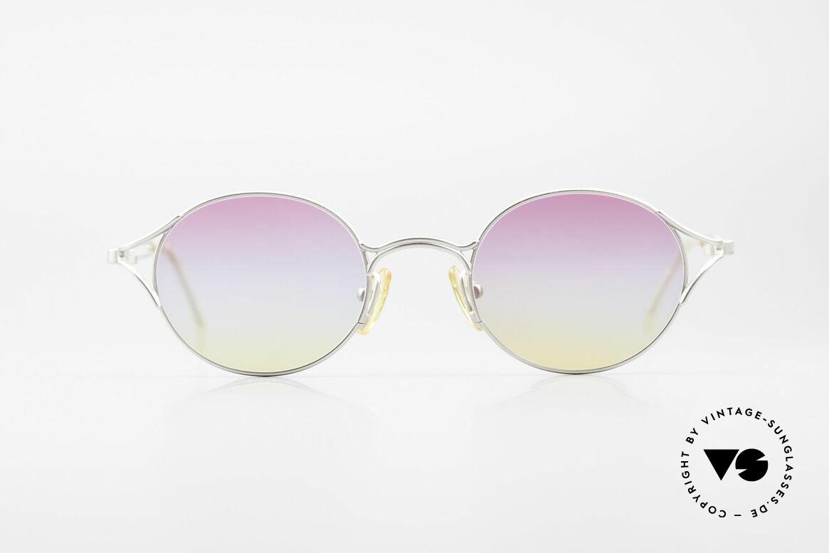 Yohji Yamamoto 51-4103 Panto Designer Sonnenbrille, beste Verarbeitungsqualität & Materialien (Titanium), Passend für Herren und Damen