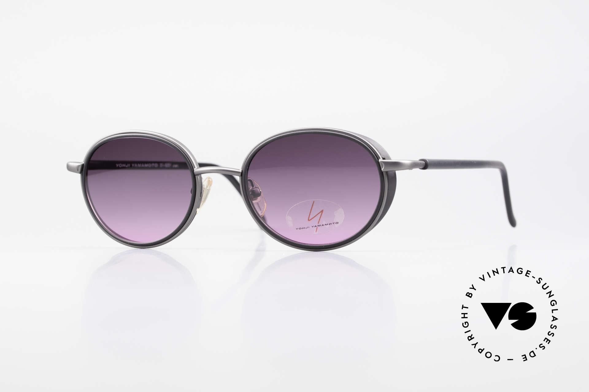 Yohji Yamamoto 51-6201 Seitenblenden Sonnenbrille, außergewöhnliche vintage Y. Yamamoto Sonnenbrille, Passend für Damen