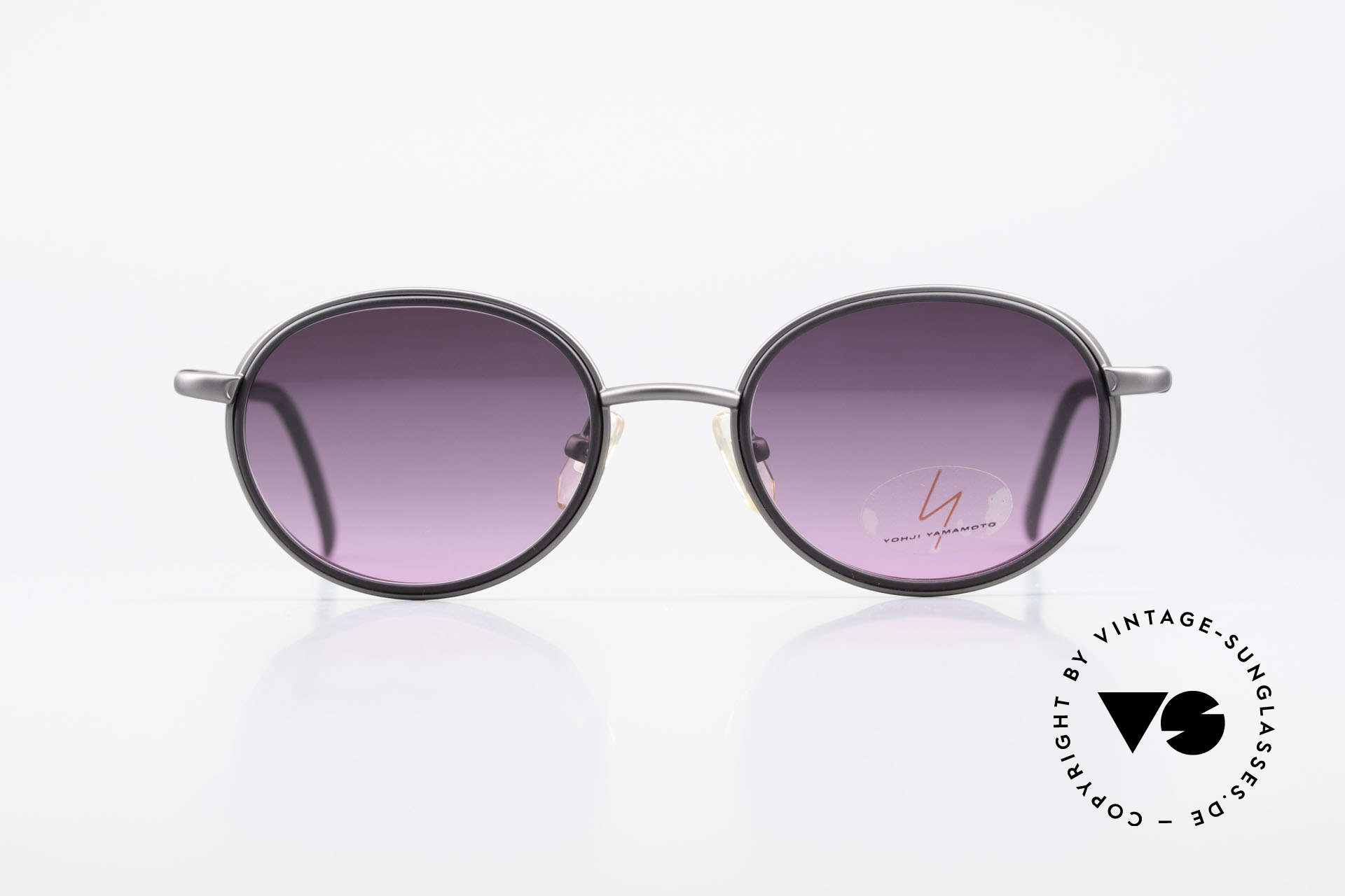 Yohji Yamamoto 51-6201 Seitenblenden Sonnenbrille, beste Verarbeitungsqualität & Materialien (Titanium), Passend für Damen