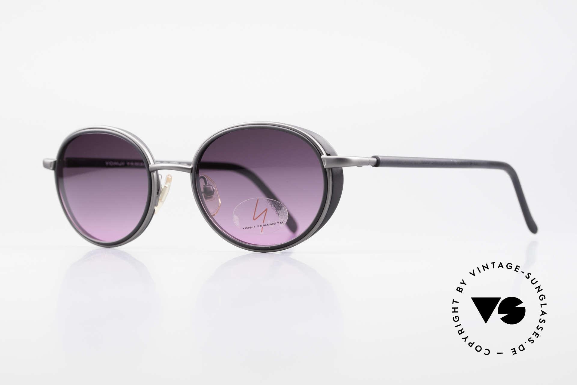 Yohji Yamamoto 51-6201 Seitenblenden Sonnenbrille, MUST HAVE für alle Liebhaber von Qualität & Design, Passend für Damen