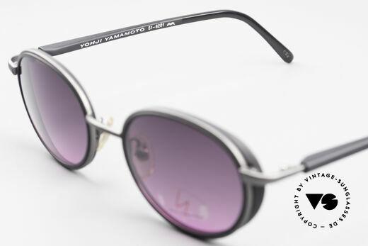 Yohji Yamamoto 51-6201 Seitenblenden Sonnenbrille, KEINE Retromode; ein Y.Yamamoto Original von 1995, Passend für Damen