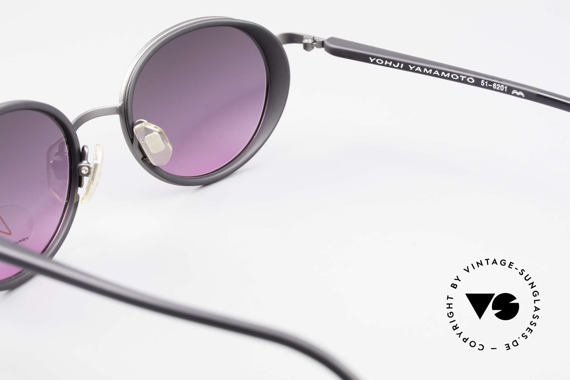 Yohji Yamamoto 51-6201 Seitenblenden Sonnenbrille, Größe: medium, Passend für Damen