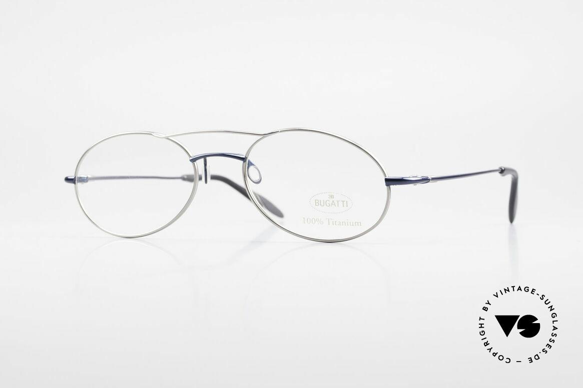 Bugatti 19239 Titanium Luxus Brillenfassung, 100% Titanium vintage Bugatti Brille von circa 1998, Passend für Herren