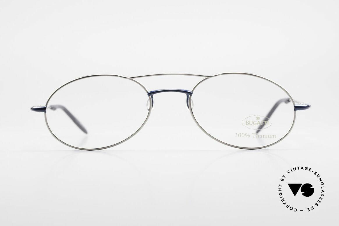 Bugatti 19239 Titanium Luxus Brillenfassung, herausragende Verarbeitungsqualität (wiegt nur 15g), Passend für Herren