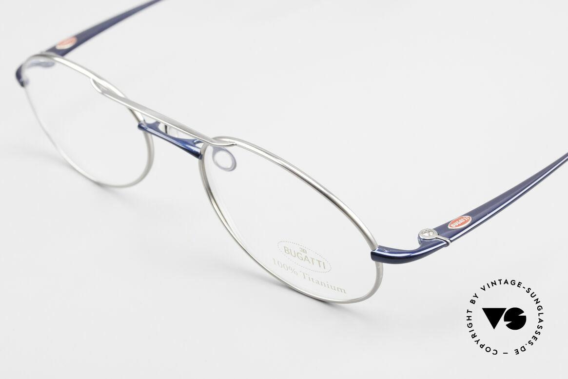 Bugatti 19239 Titanium Luxus Brillenfassung, mehr geht nicht! purer Luxus! Muss man(n) fühlen!, Passend für Herren