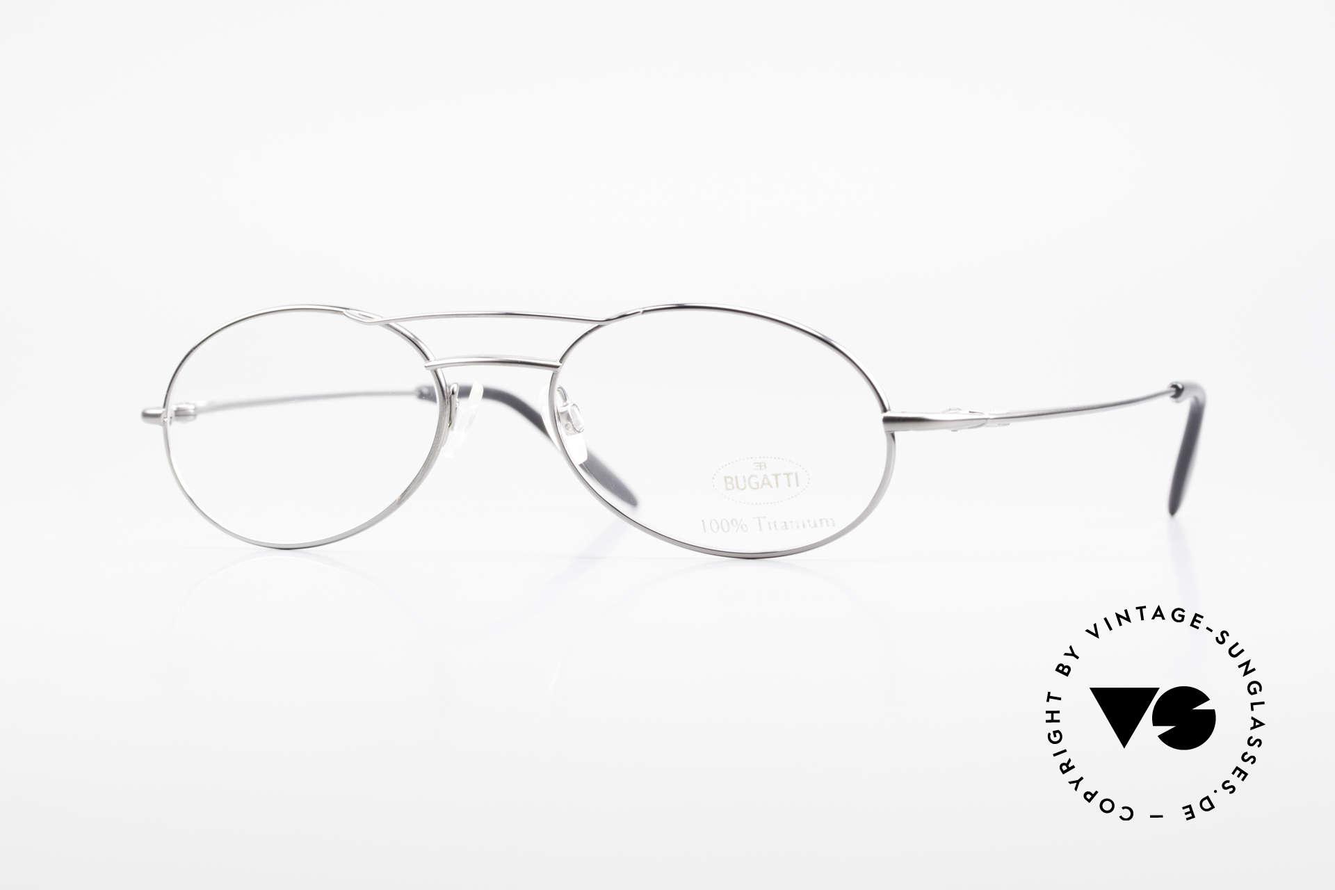 Bugatti 18861 Titanium Herren Brillenfassung, 100% Titanium vintage Bugatti Brille von circa 1998, Passend für Herren