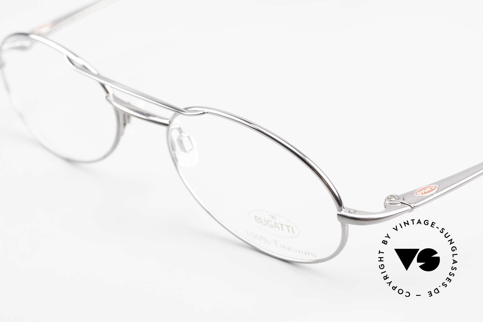 Bugatti 18861 Titanium Herren Brillenfassung, mehr geht nicht! purer Luxus! Muss man(n) fühlen!, Passend für Herren