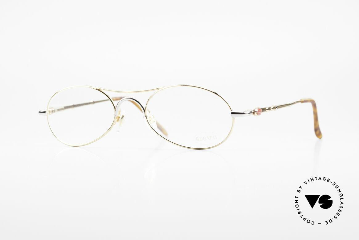 Bugatti 10608 Rare 90er Herren Luxusbrille, sehr elegante vintage BUGATTI Brillenfassung, Passend für Herren
