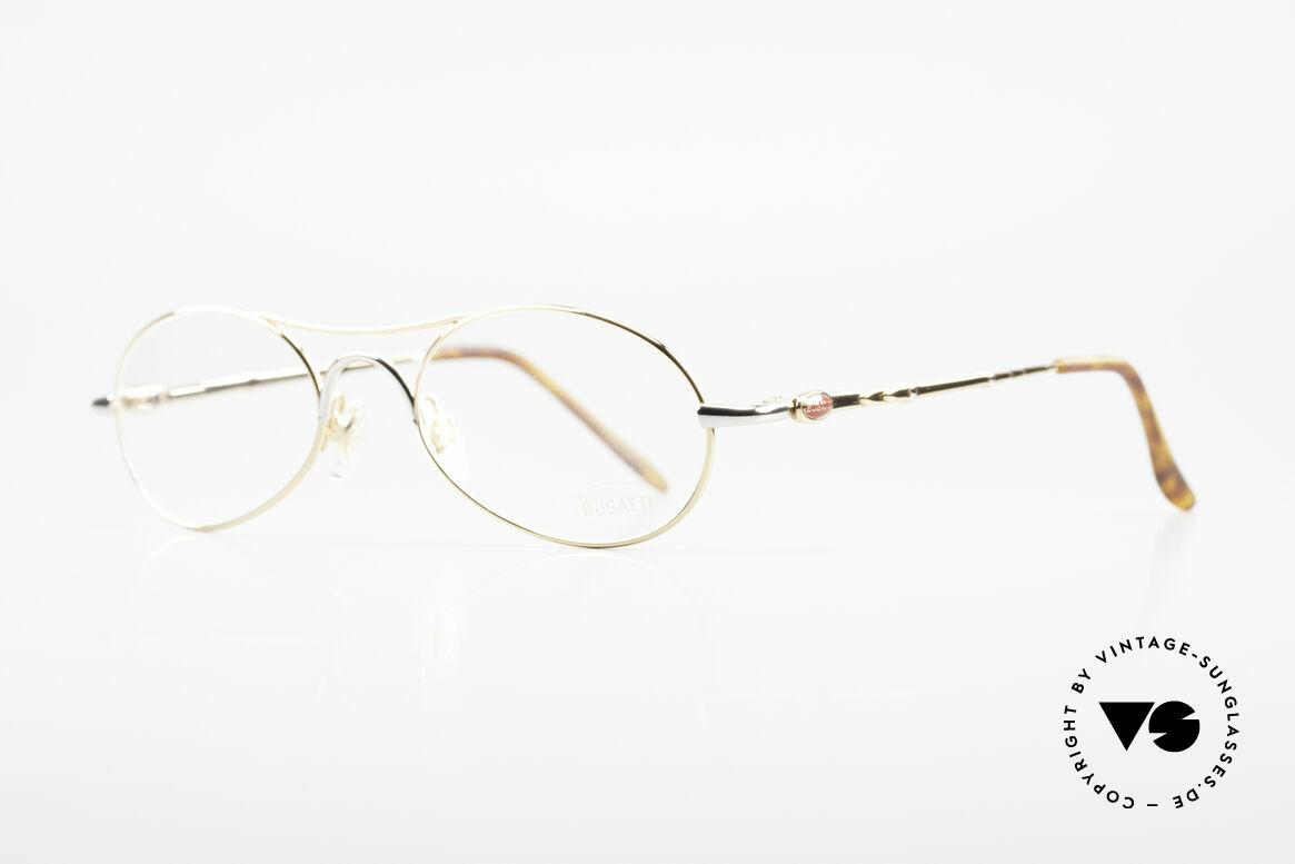 Bugatti 10608 Rare 90er Herren Luxusbrille, Rahmen in TOP-Qualität mit Feder-Scharnieren, Passend für Herren