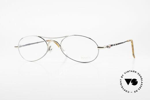 Bugatti 10692 Vintage Herren Luxusbrille Details