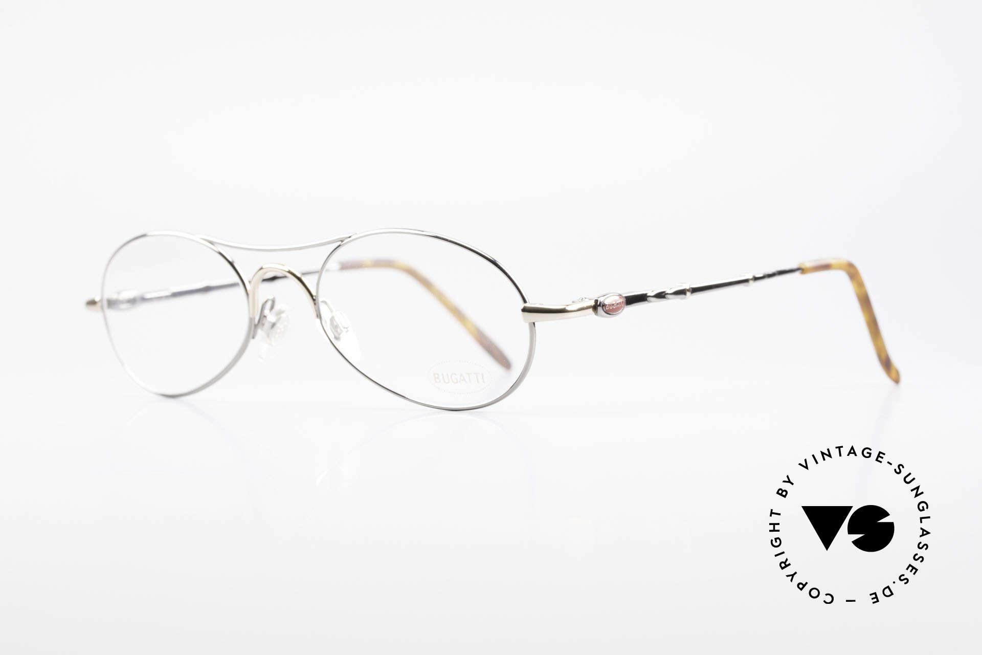 Bugatti 10692 Vintage Herren Luxusbrille, Rahmen in TOP-Qualität mit Feder-Scharnieren, Passend für Herren