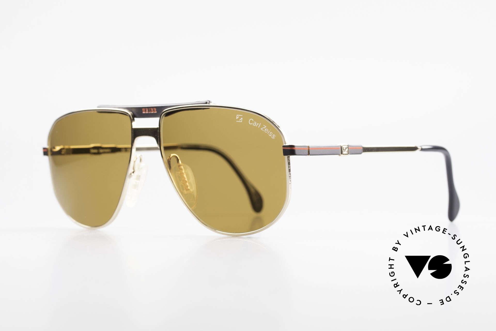 Zeiss 9934 90er Vintage Sonnenbrille, entspiegelte Zeiss Sonnengläser für 100% UV Schutz, Passend für Herren