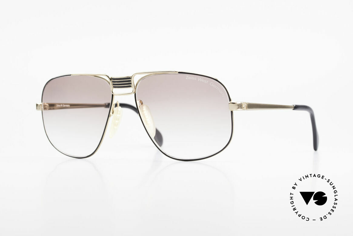Zeiss 9387 Extra Grosse 80er Herrenbrille, außergewöhnliches 80er Jahre Design von Zeiss, Passend für Herren