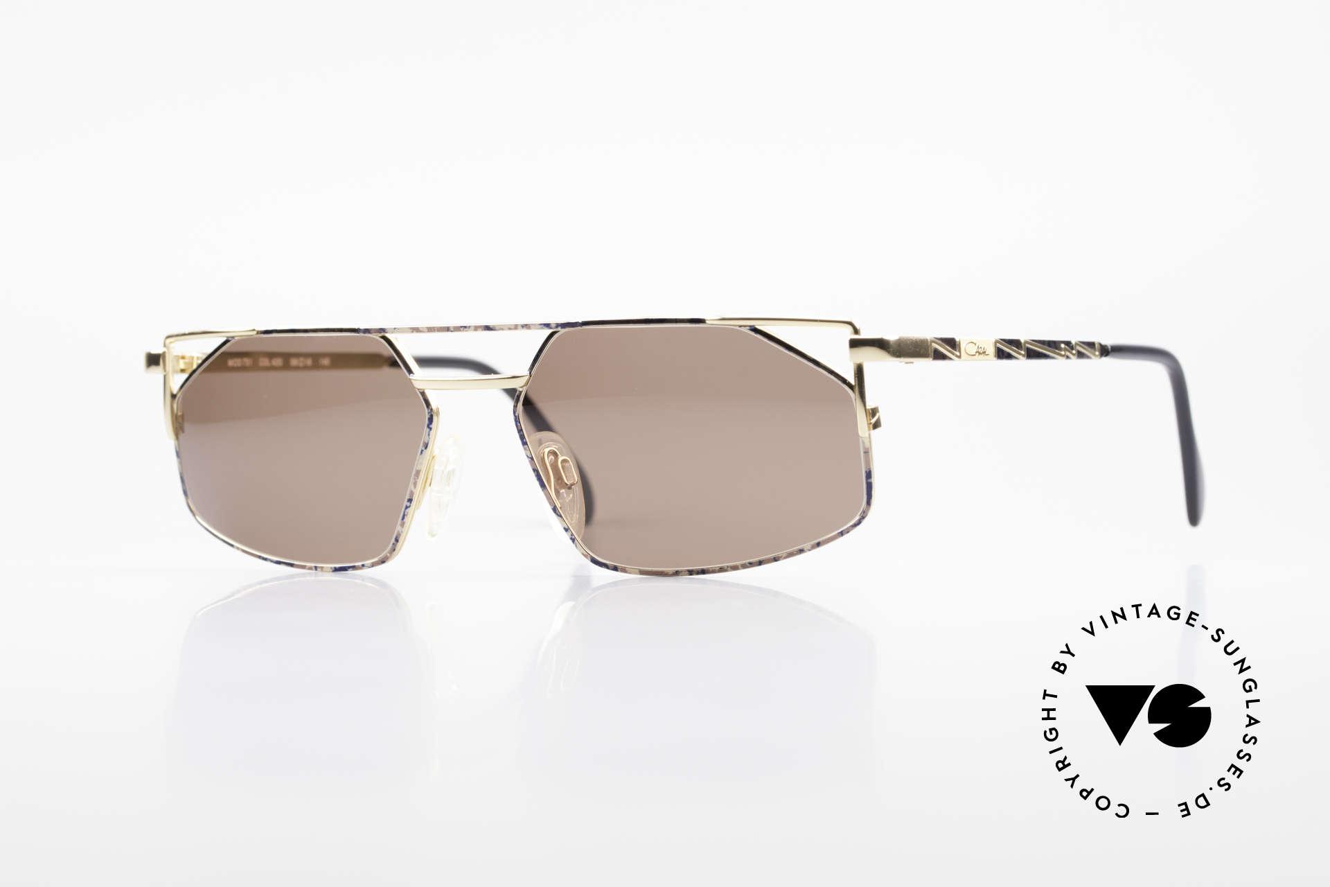 Cazal 751 Rare Vintage Designerbrille, rare Cazal Sonnenbrille in Top-Qualität von 1993/94, Passend für Herren