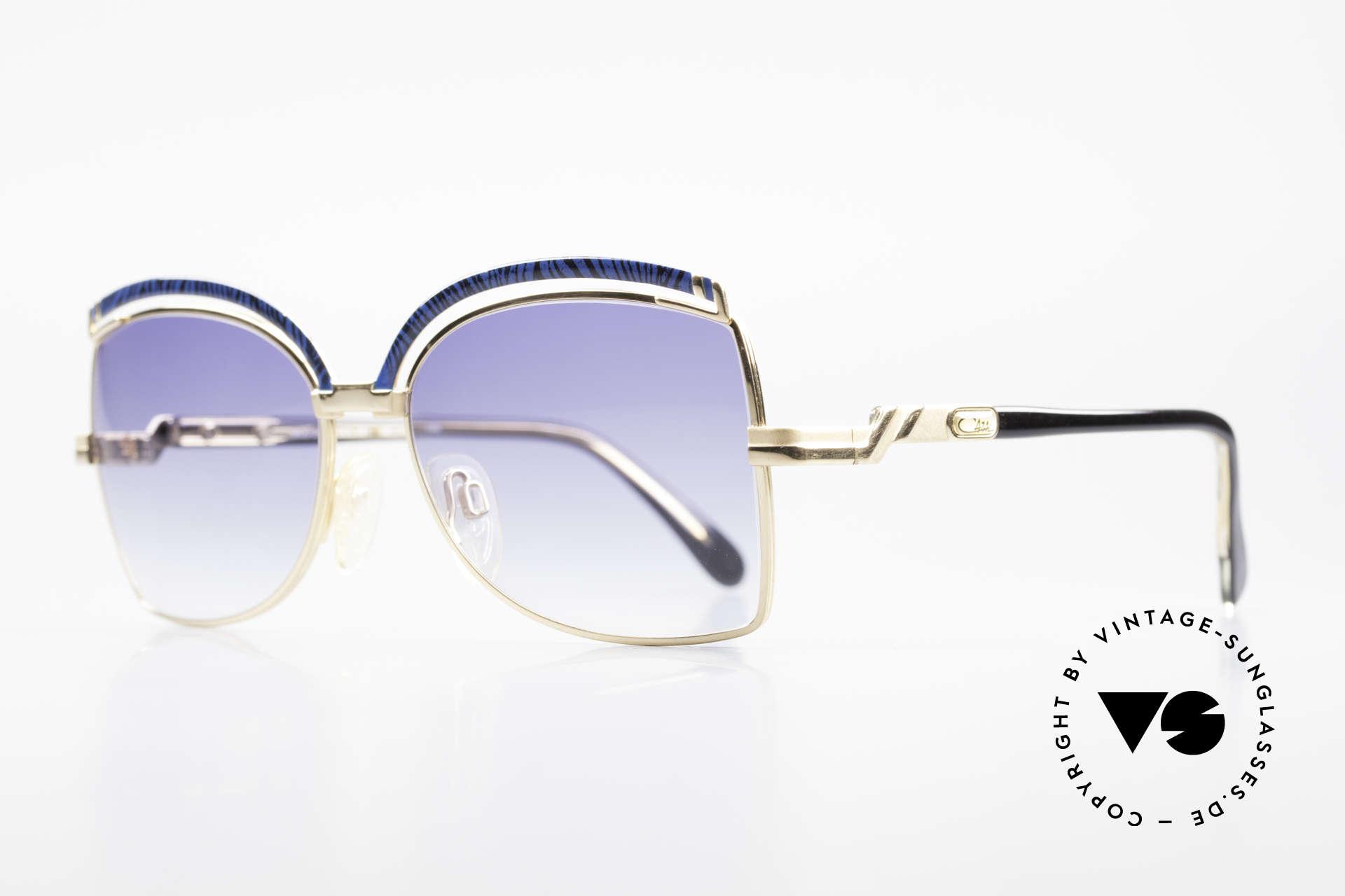 Cazal 240 90er Damen Sonnenbrille, tolle Rahmenkonstruktionen mit edlen Farben, Passend für Damen