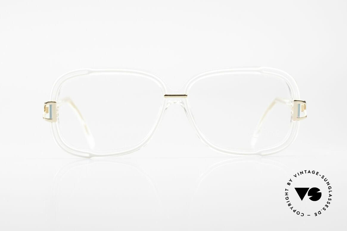 Cazal 320 West Germany Damen Cazal, transparenter Rahmen mit Akzenten in türkis & gold, Passend für Damen