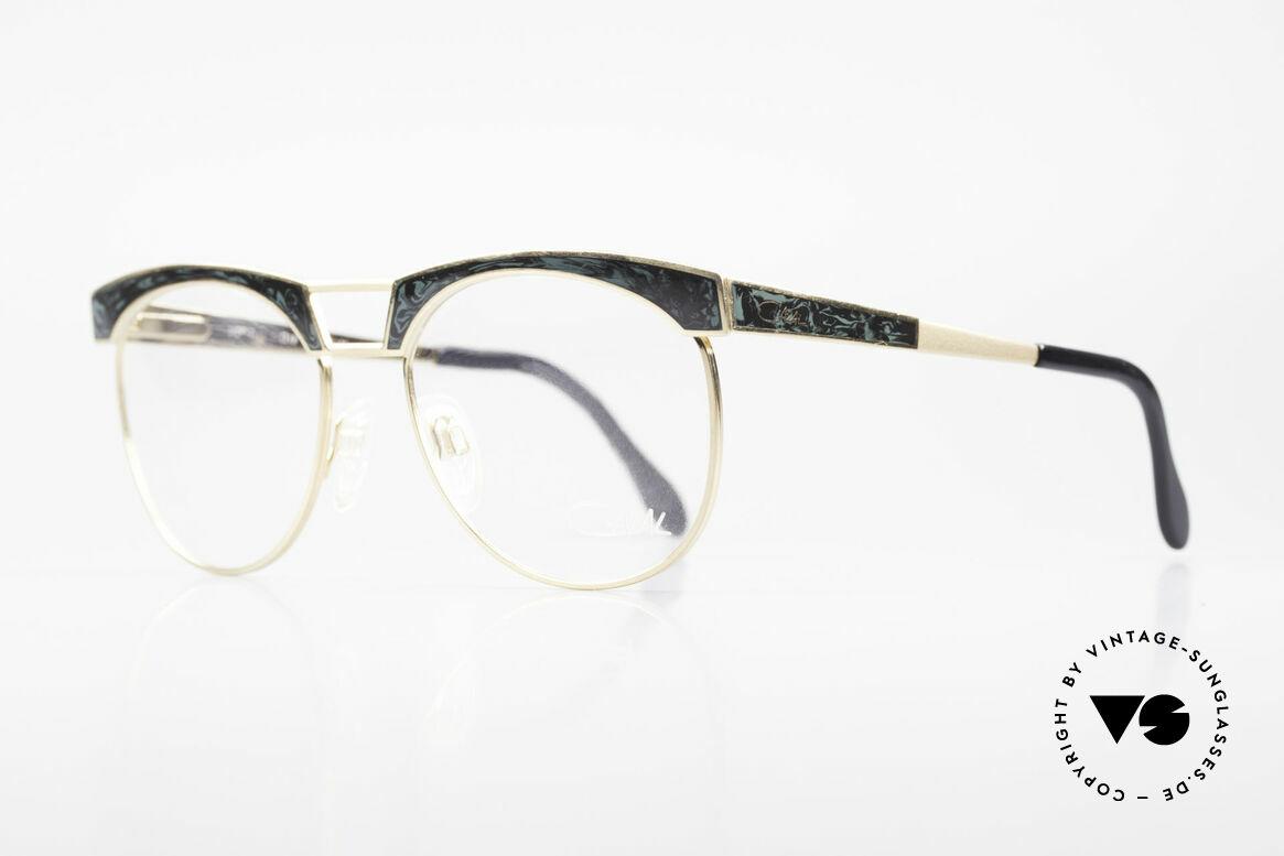 """Cazal 741 Panto Stil Designerbrille 90er, interessante """"Marmor""""-Applikation auf Front & Bügeln, Passend für Herren"""