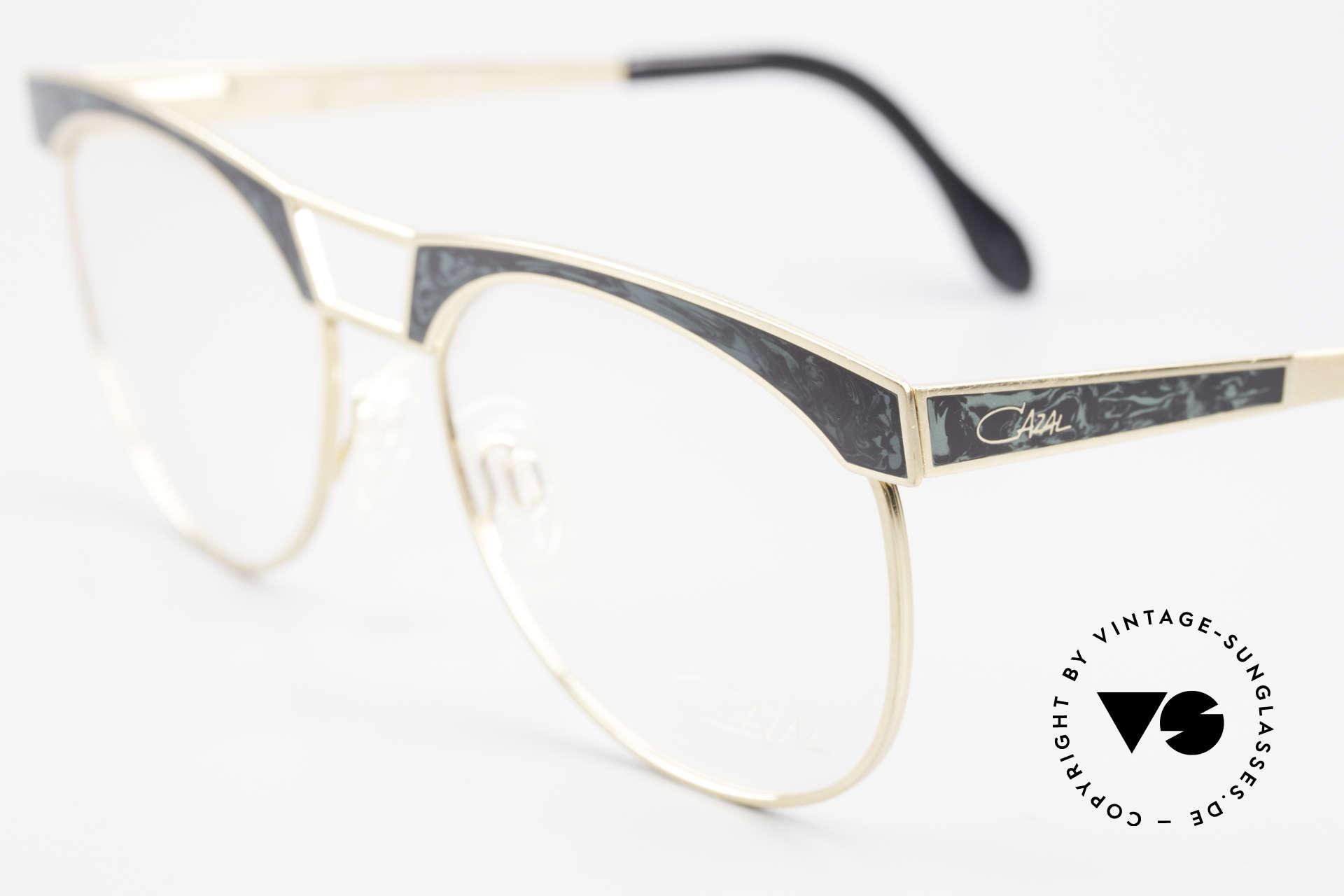 Cazal 741 Panto Stil Designerbrille 90er, flexible Federscharniere für optimalen Tragekomfort, Passend für Herren