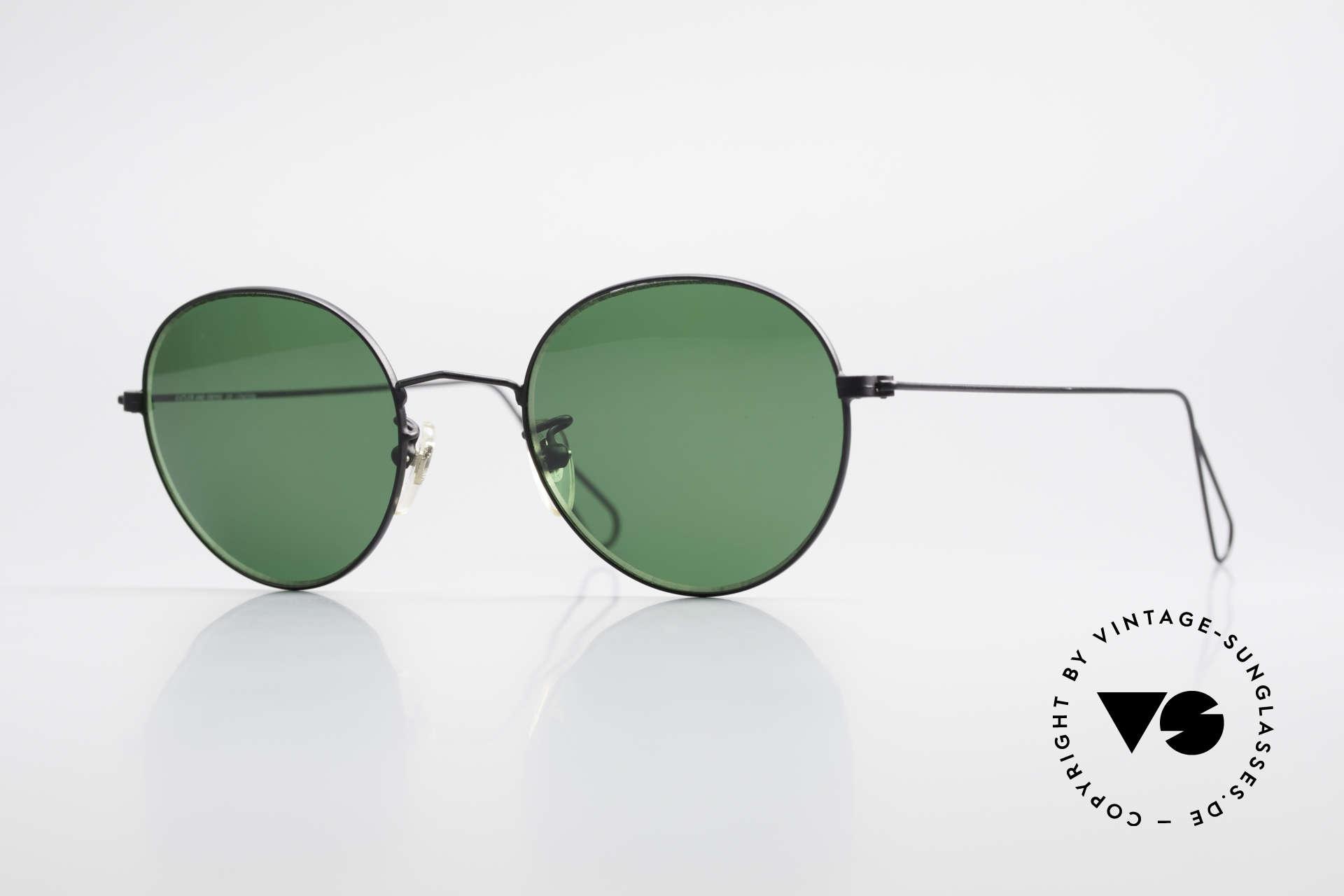 Cutler And Gross 0306 Vintage Panto Sonnenbrille, Cutler & Gross London Designerbrille der späten 90er, Passend für Herren und Damen