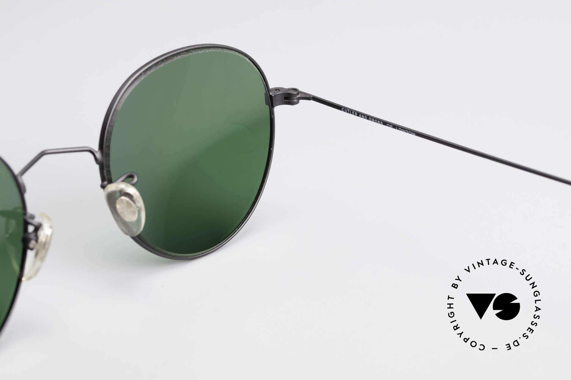 Cutler And Gross 0306 Vintage Panto Sonnenbrille, Größe: medium, Passend für Herren und Damen