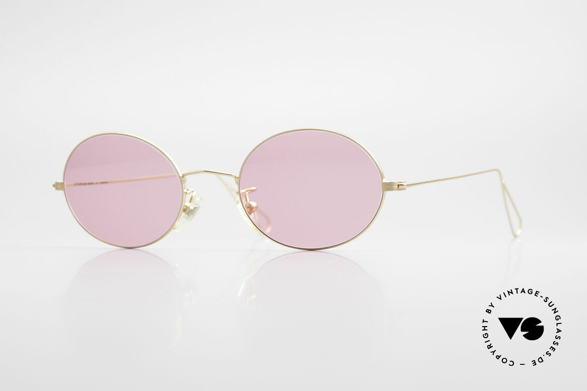 Cutler And Gross 0305 Ovale Sonnenbrille Vintage, Cutler & Gross London Designerbrille der späten 90er, Passend für Herren und Damen