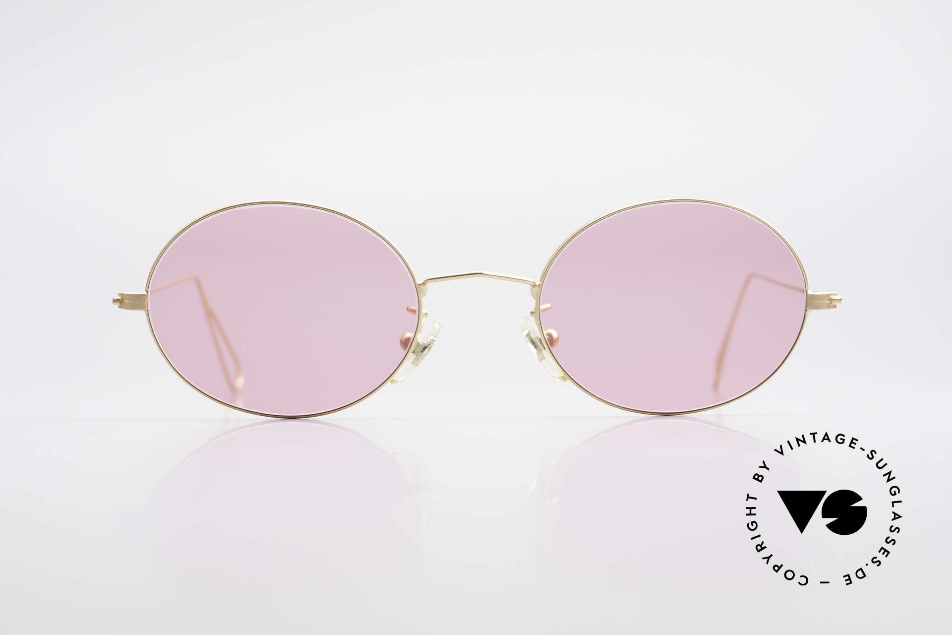 Cutler And Gross 0305 Ovale Sonnenbrille Vintage, klassisch, zeitlose Understatement Luxus-Sonnenbrille, Passend für Herren und Damen