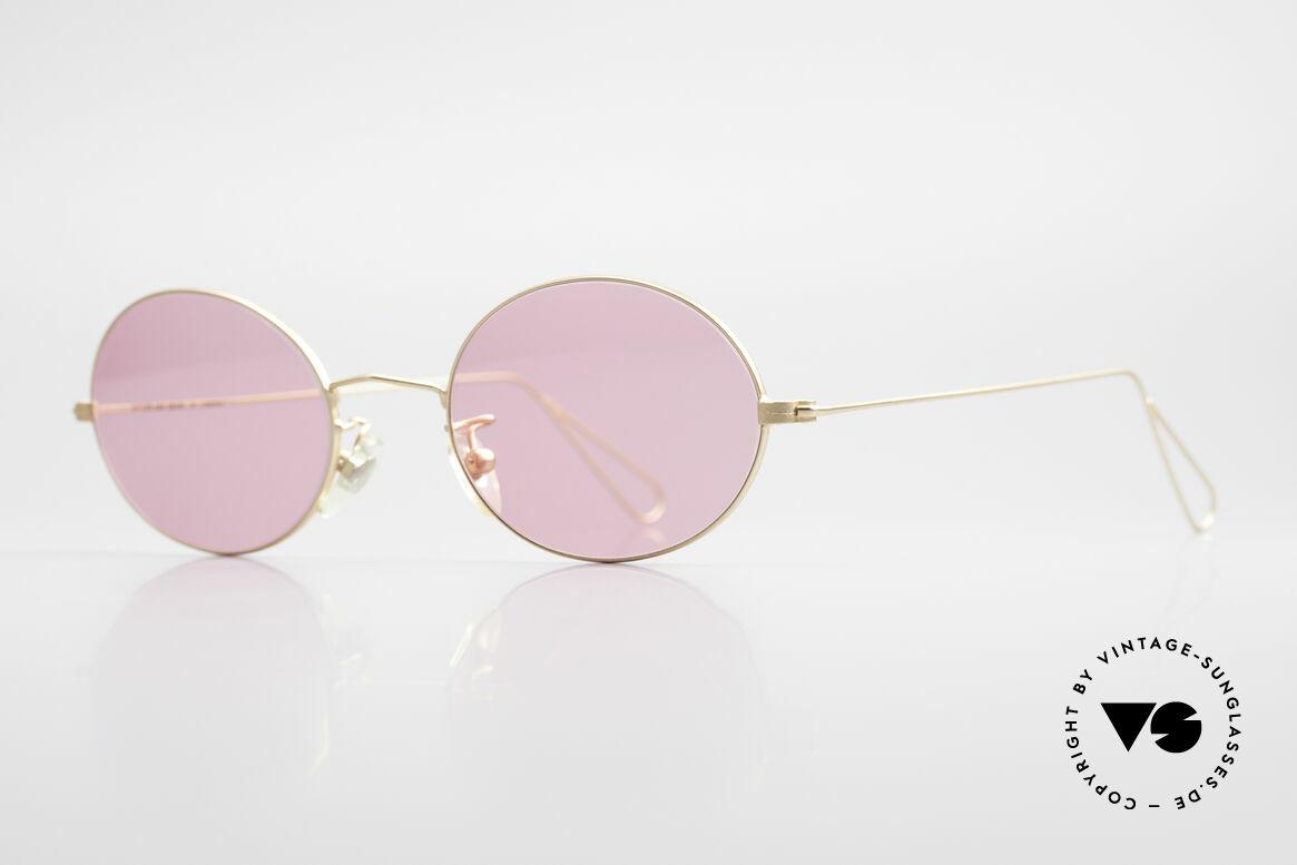 Cutler And Gross 0305 Ovale Sonnenbrille Vintage, stilvoll & unverwechselbar; auch ohne pompöse Logos, Passend für Herren und Damen