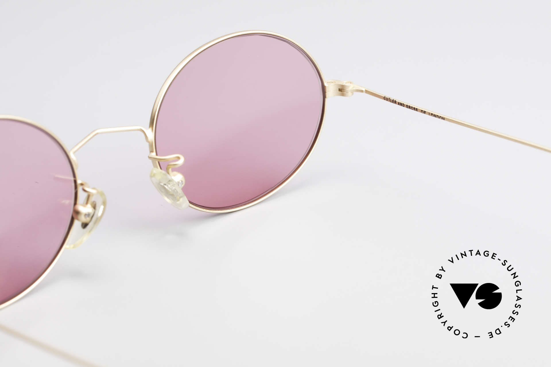 Cutler And Gross 0305 Ovale Sonnenbrille Vintage, Größe: medium, Passend für Herren und Damen