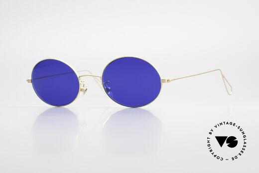 Cutler And Gross 0305 Vintage Sonnenbrille Oval Details