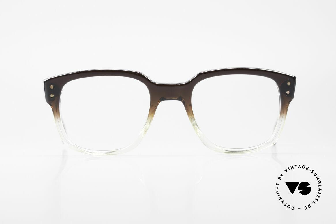 Metzler 447 Vintage Brille Nerd Hipster, altes 70/80er Jahre ORIGINAL - wie aus einem Stück, Passend für Herren