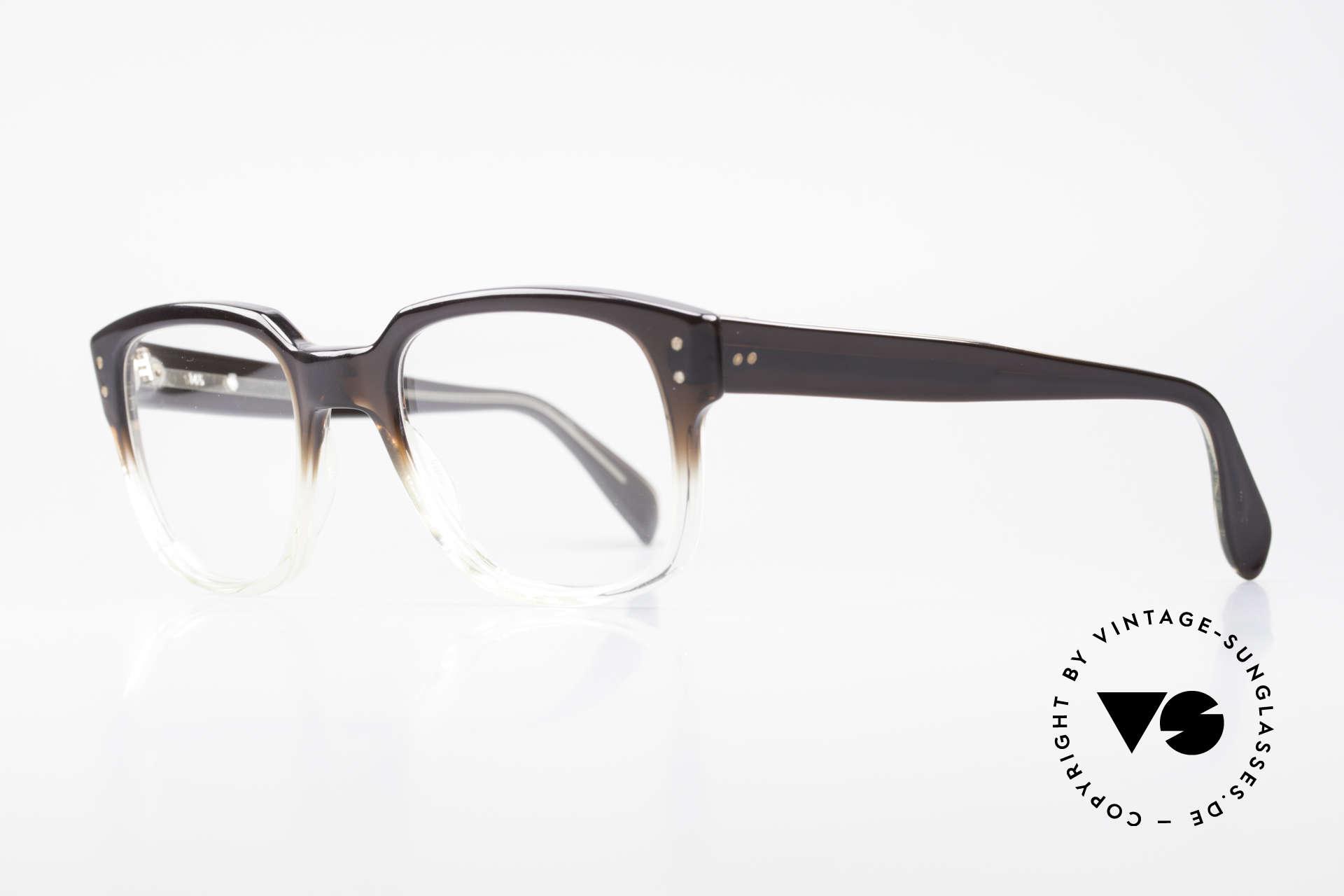 Metzler 447 Vintage Brille Nerd Hipster, tolle Optik des Materials: dunkelbraun zu transparent, Passend für Herren