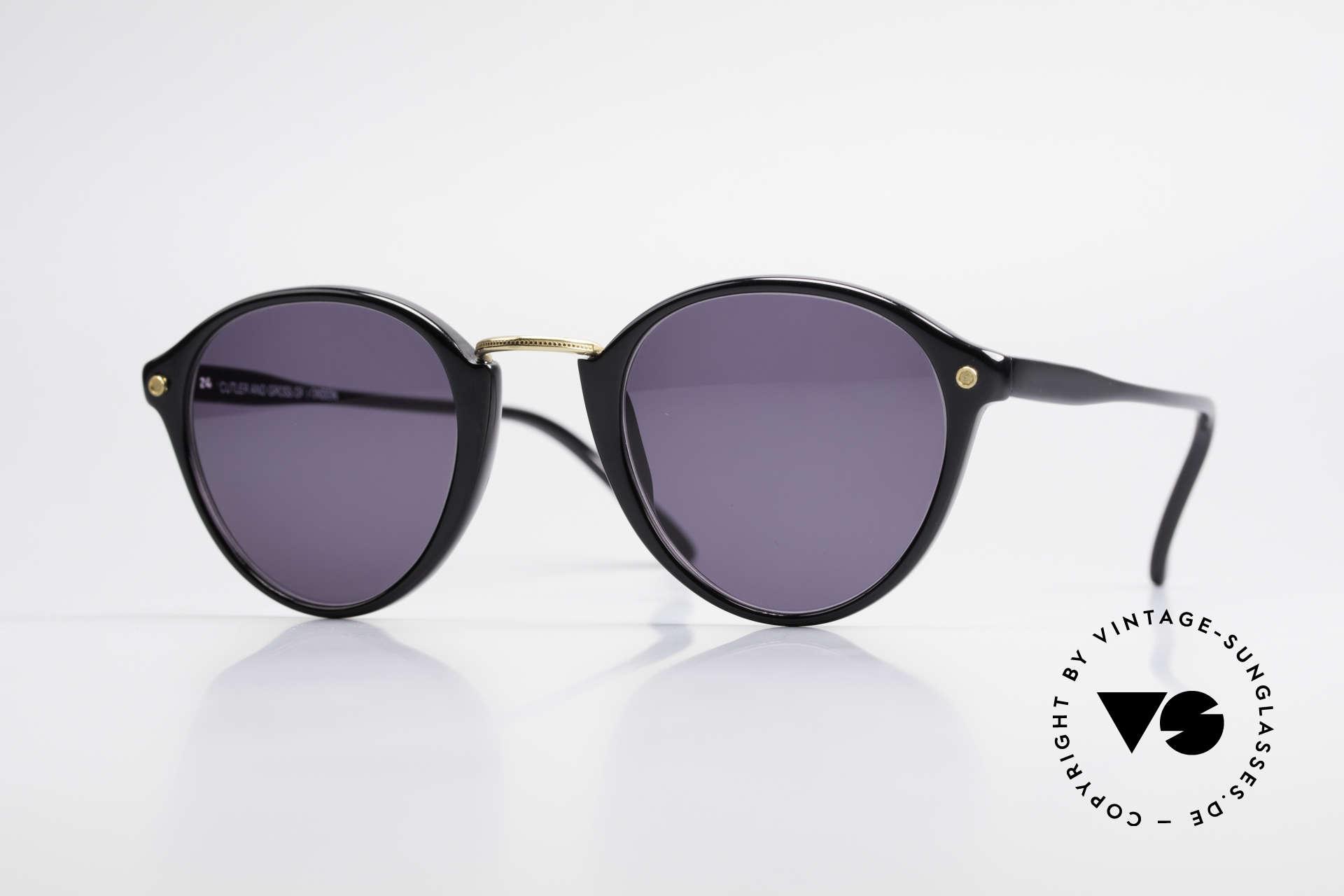 Cutler And Gross 0249 Panto Sonnenbrille Vintage, Cutler & Gross London Designerbrille der späten 90er, Passend für Herren und Damen
