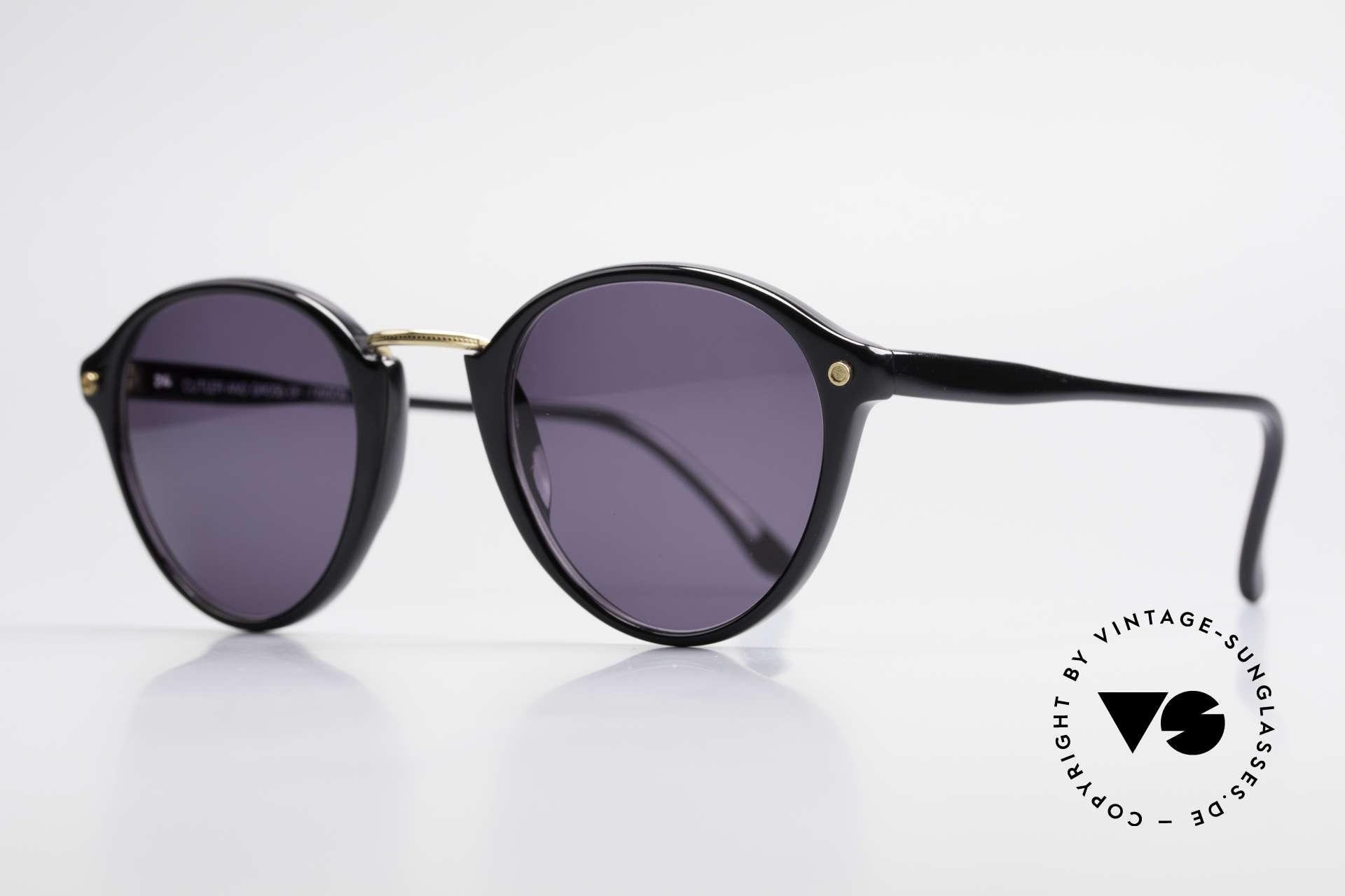 Cutler And Gross 0249 Panto Sonnenbrille Vintage, stilvoll & unverwechselbar; auch ohne pompöse Logos, Passend für Herren und Damen