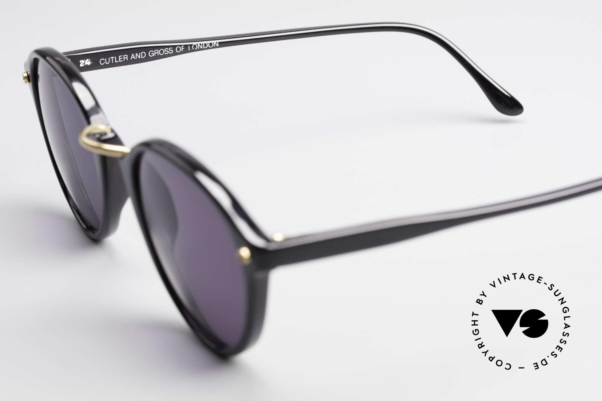 Cutler And Gross 0249 Panto Sonnenbrille Vintage, ungetragen; Modell ist auch beliebig optisch verglasbar, Passend für Herren und Damen