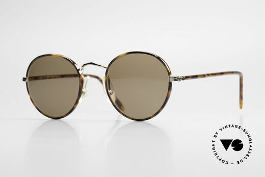Cutler And Gross 0110 Runde Designer Sonnenbrille Details