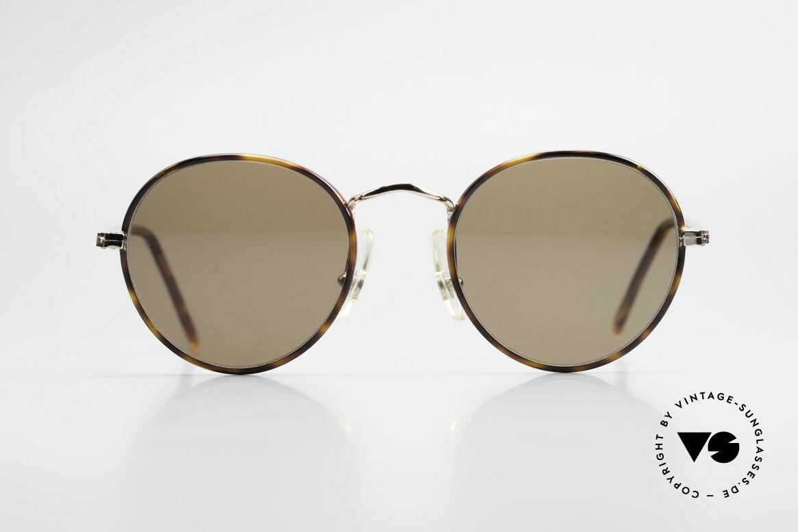 Cutler And Gross 0110 Runde Designer Sonnenbrille, Cutler & Gross London Designerbrille der späten 90er, Passend für Herren und Damen