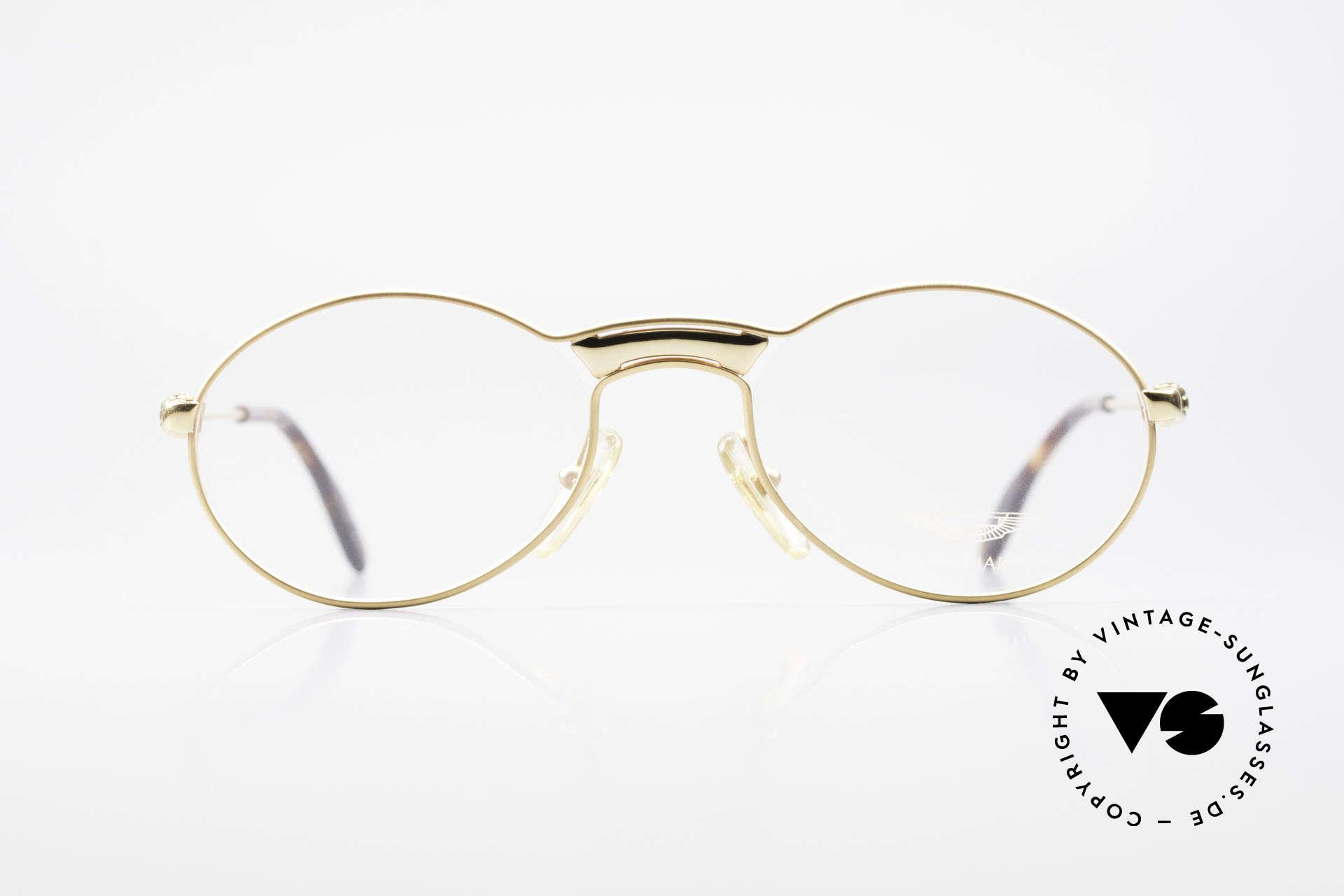 Aston Martin AM01 Ovale Brille Gentleman Style, Accessoire zu den Nobel-Sportwagen aus Great Britain, Passend für Herren