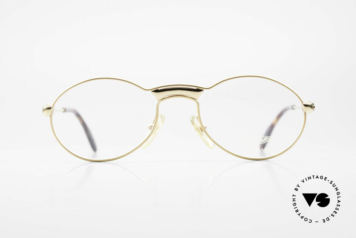 Aston Martin AM01 Ovale Brille Gentleman Style, edle Aston Martin vintage Luxus-Designerbrillenfassung, Passend für Herren