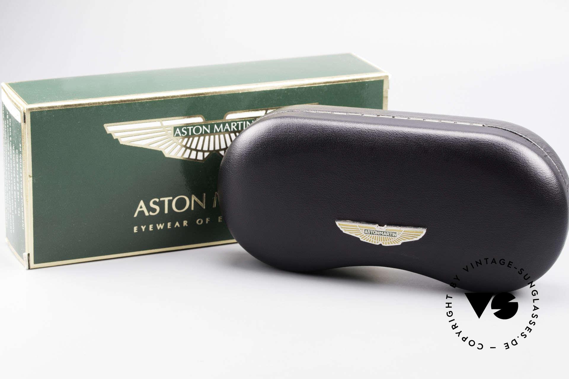 Aston Martin AM01 Ovale Brille Gentleman Style, KEINE Retro-Designbrille; ein 1990er Jahre ORIGINAL, Passend für Herren