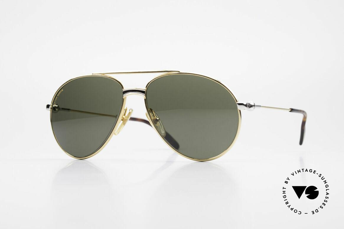 Aston Martin AM02 Aviator Brille James Bond Style, edle Aston Martin vintage Luxus-DesignerSonnenbrille, Passend für Herren