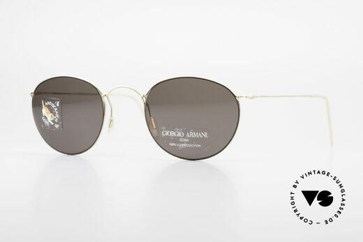 Giorgio Armani 3006 90er Panto Draht Sonnenbrille Details