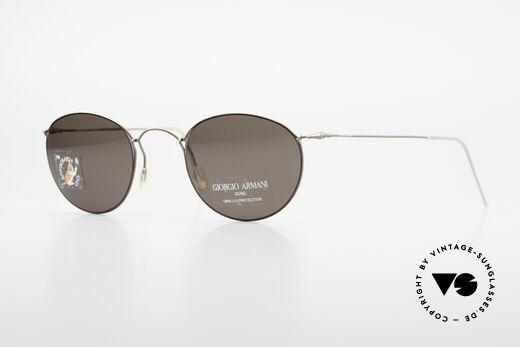 Giorgio Armani 3006 Vintage Drahtbrille Panto Stil Details