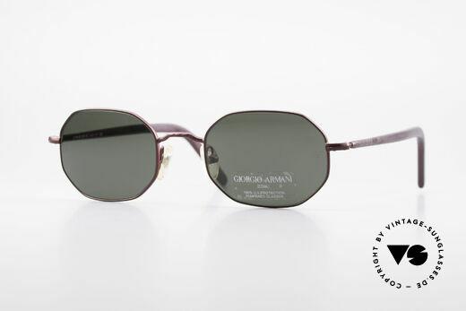 Giorgio Armani 664 Achteckige Vintage Brille 90er Details