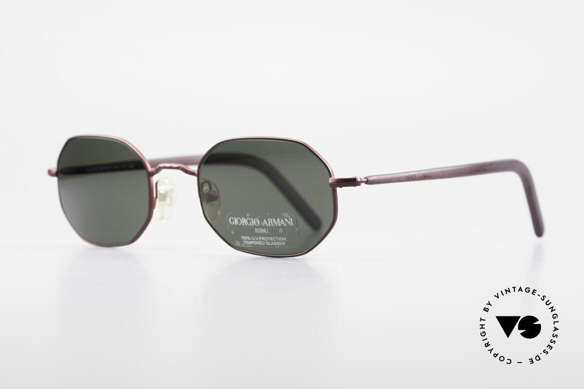 Giorgio Armani 664 Achteckige Vintage Brille 90er