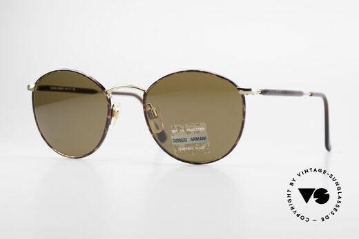 Giorgio Armani 627 Vintage Panto Sonnenbrille Details
