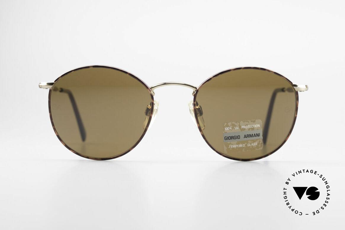 Giorgio Armani 627 Vintage Panto Sonnenbrille, klassische Panto-Form in KLEINER Größe (120mm), Passend für Herren und Damen