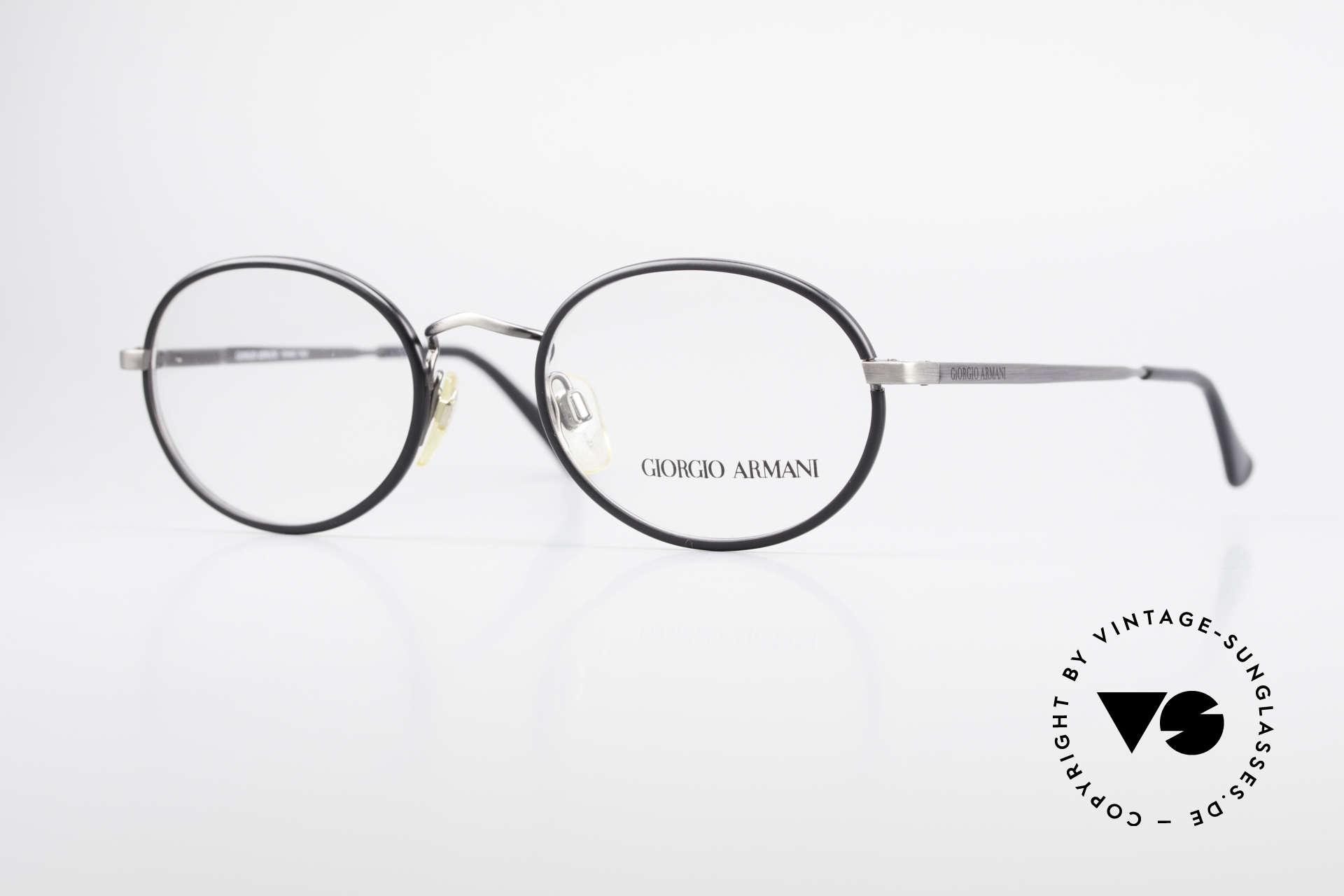 Giorgio Armani 235 Ovale Vintage Brille Unisex, vintage Giorgio Armani DesignerFassung der 80er Jahre, Passend für Herren und Damen