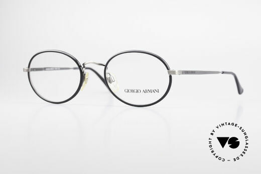 Giorgio Armani 235 Ovale Vintage Brille Unisex Details